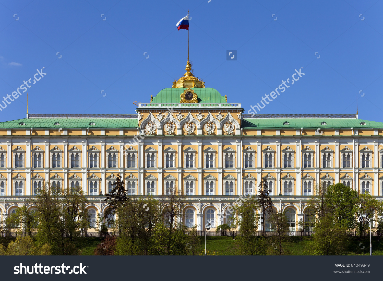 Grand Kremlin Palace Bolshoy Kremlyovskiy Dvorets Stock Photo.