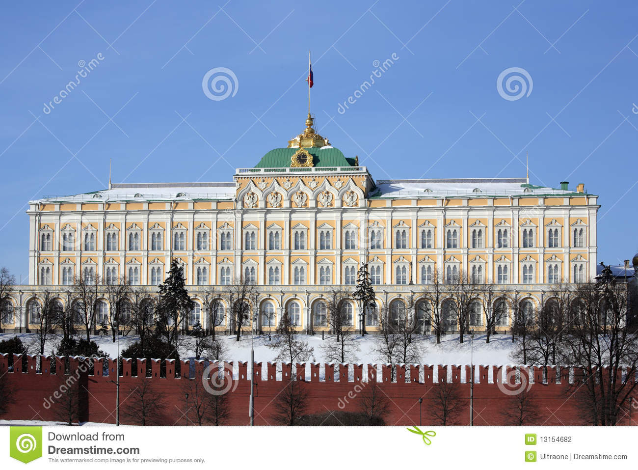 Moscow Kremlin Series. The Grand Kremlin Palace. Stock Photography.