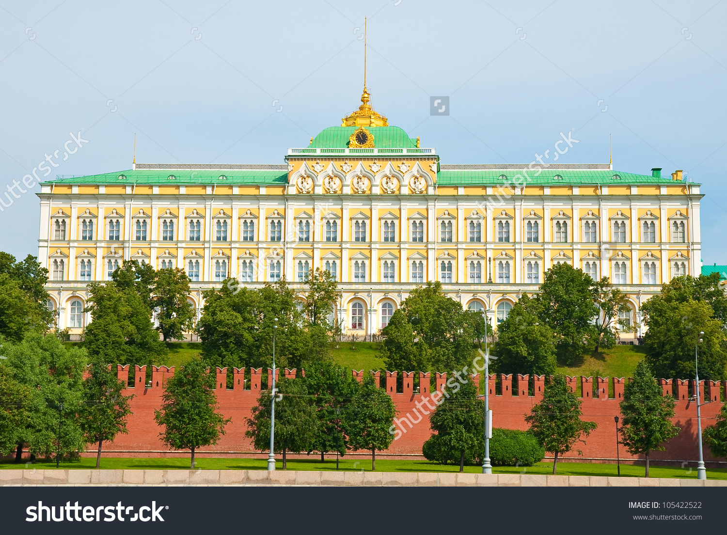 Grand Kremlin Palace Moscow Russia Stock Photo 105422522.