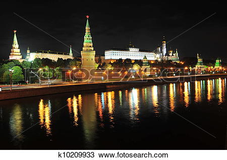 Stock Photo of Grand Kremlin Palace, Red Square k10209933.