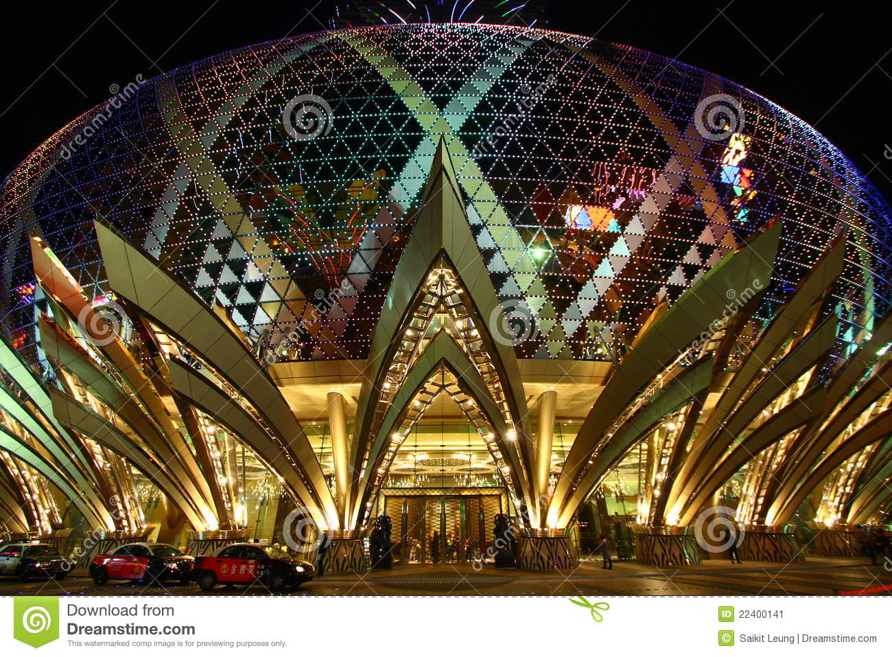 Casino Grand Lisboa In Macau Editorial Photo.