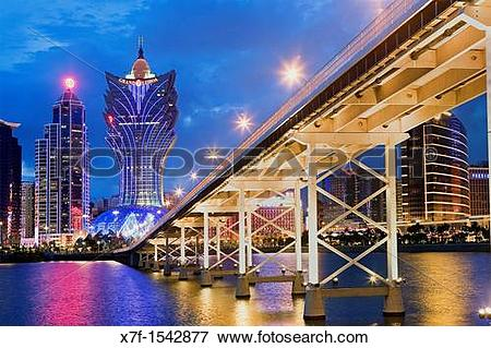 Picture of City Skyline with Bank of China Building, Grand Lisboa.