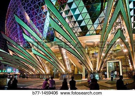 Stock Images of China, Macau, entrance to the Grand Lisboa Casino.
