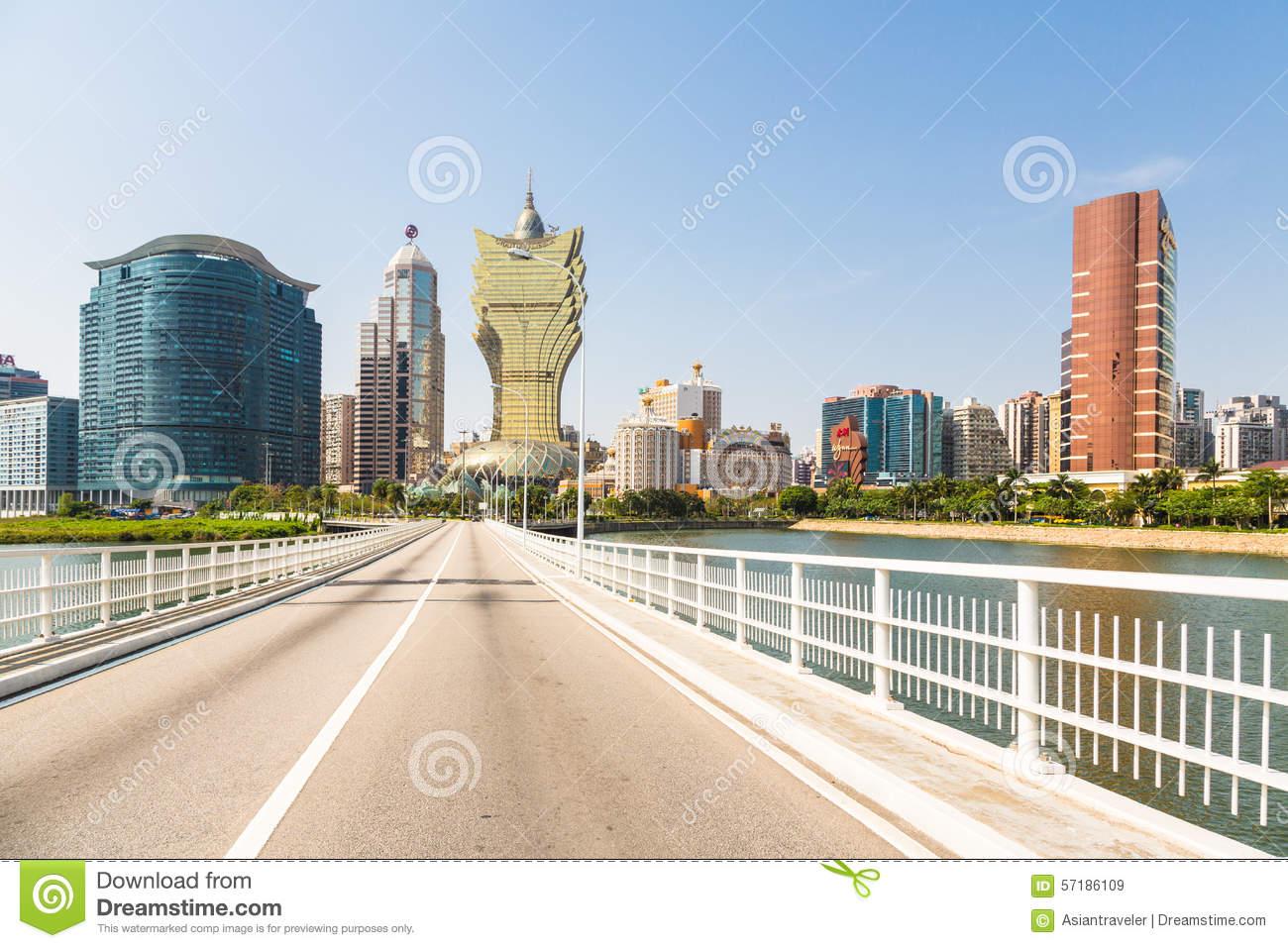 Macau : Grand Lisboa Hotel & Wynn Hotel Editorial Stock Photo.