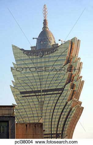 Stock Photo of Grand Lisboa Hotel/Casino pcl38004.