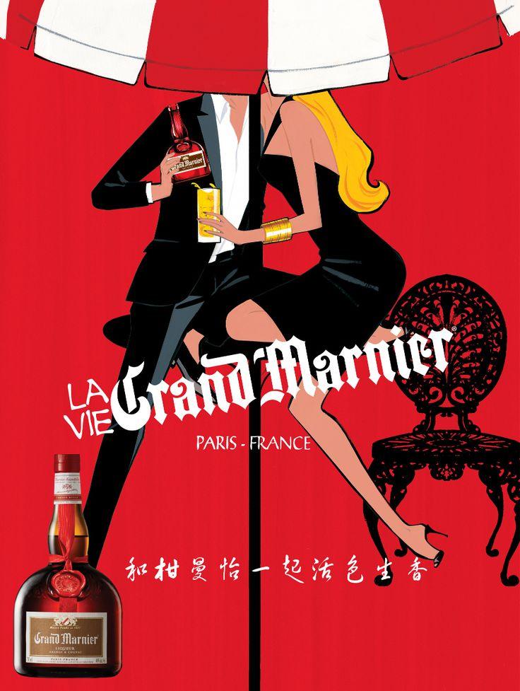 """Illustration & Brand Building: GRAND MARNIER, """"La Vie Grand."""