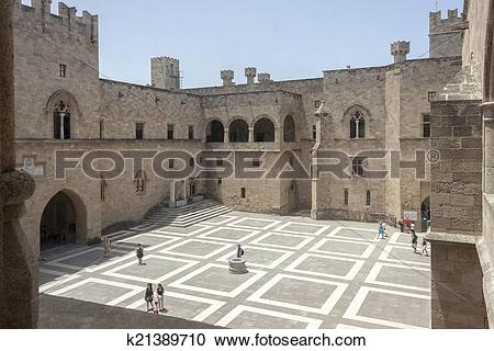 Stock Photography of Palace of the Grand Master, Rhodes k21389710.
