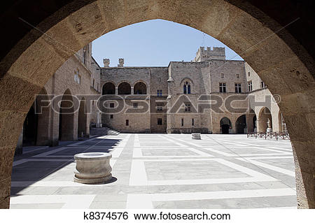 Stock Images of The Palace of the Grand Master of the Knights of.