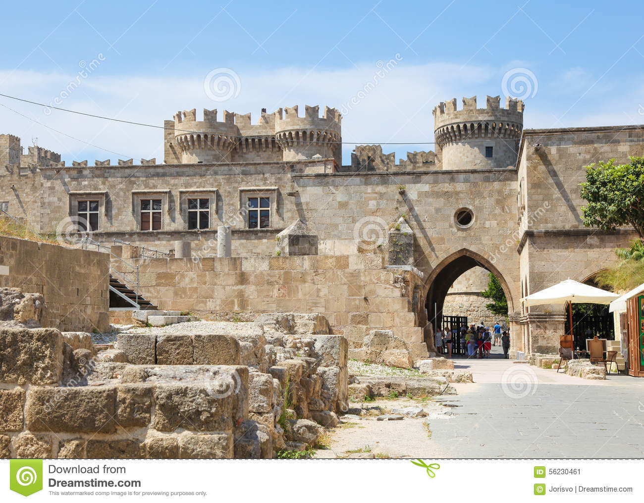 Palace Of The Grand Master Of The Knights Of Rhodes, Greece.