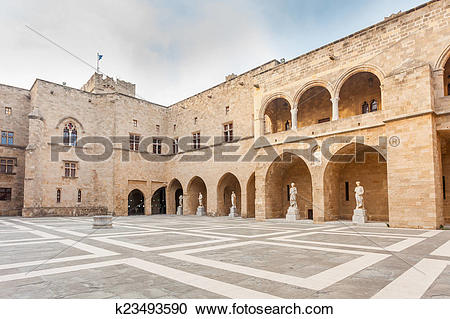 Stock Photography of Rhodes Grand Masters Palace k23493590.