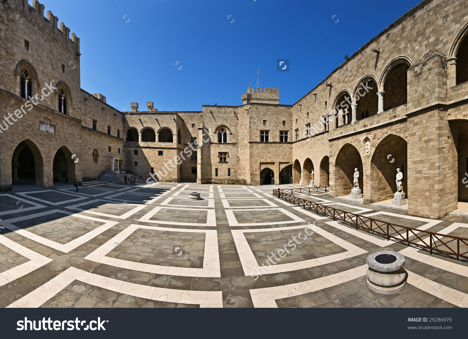 Palace Grand Master Knights Rhodes Greece Stock Photo 29286979.