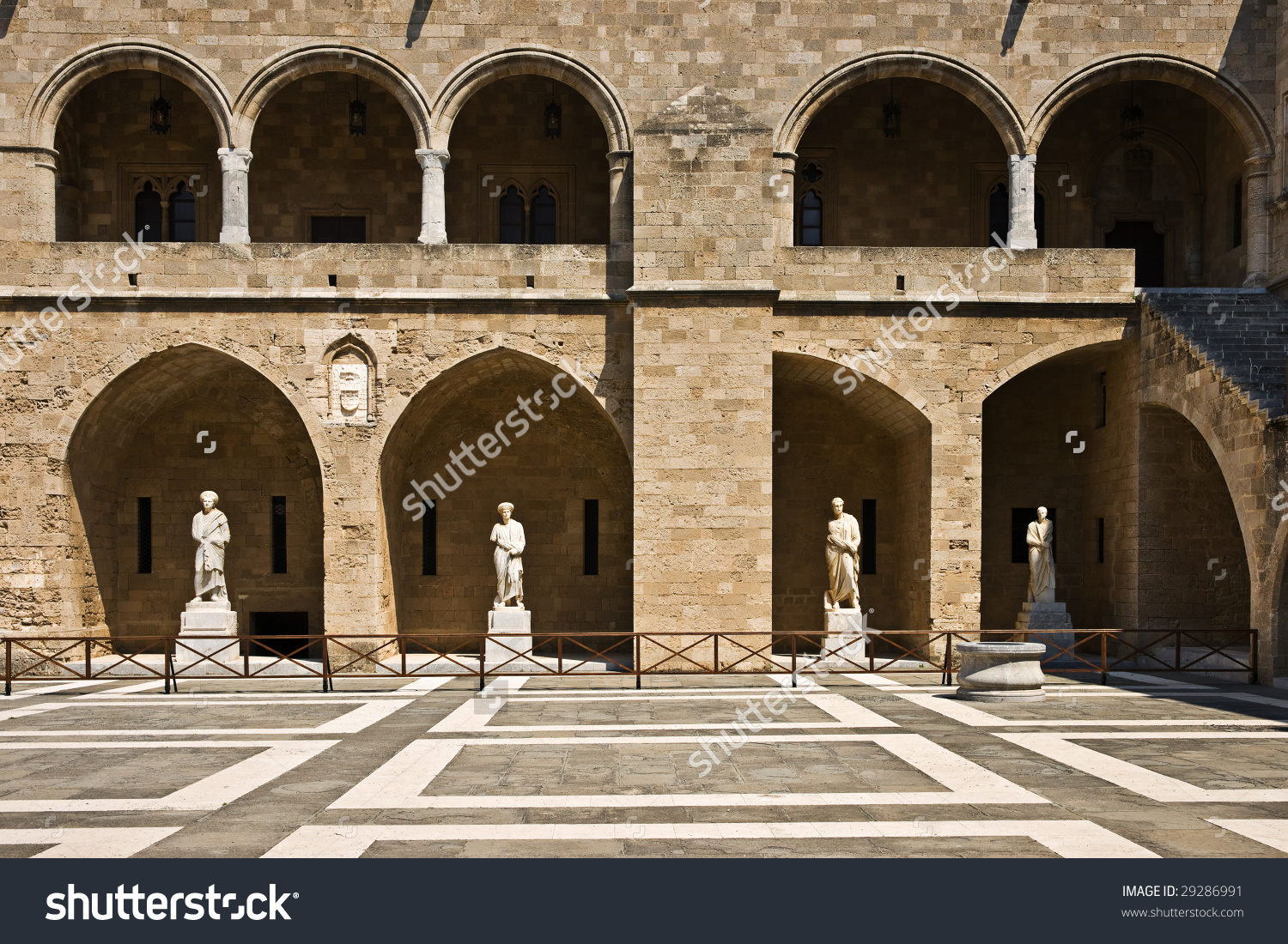Palace Grand Master Knights Rhodes Yard Stock Photo 29286991.