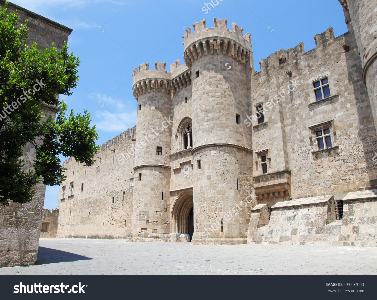 Palace Grand Master Knights Rhodes Medieval Stock Photo 293207000.