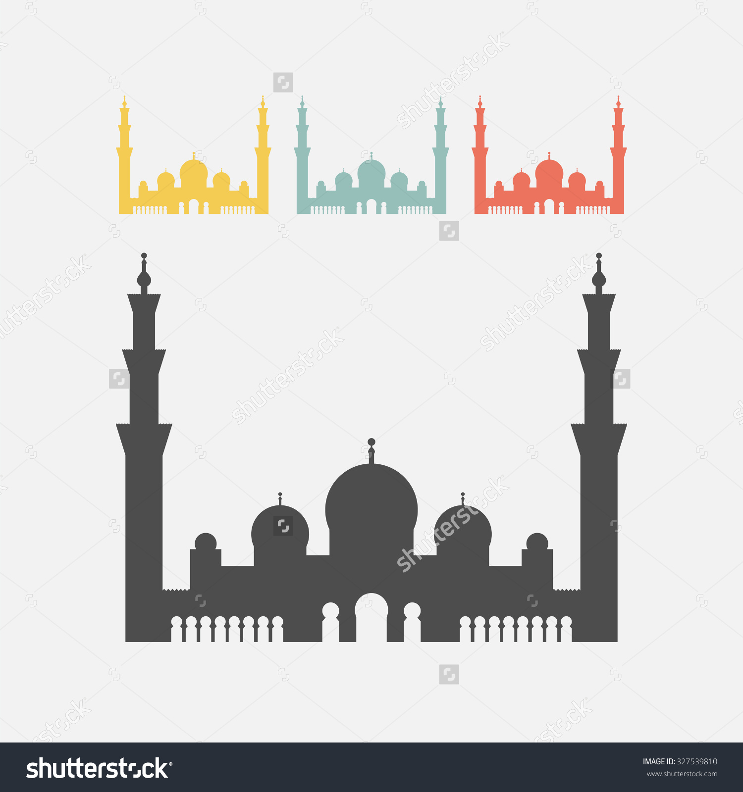 Sheikh Zayed Grand Mosque Stock Vector 327539810.