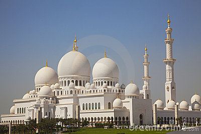 Sheikh Zayed Grand Mosque Abu Dhabi Royalty Free Stock Photos.
