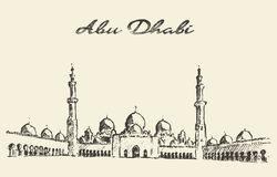 Sheikh Zayed Grand Mosque Abu Dhabi Uae Stock Illustrations.