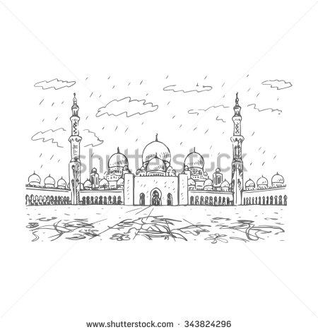 Sheikh zayed grand mosque clipart.