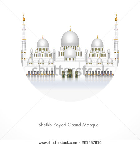 Sheikh Zayed Grand Mosque Flat Icon Stock Vector 350976878.