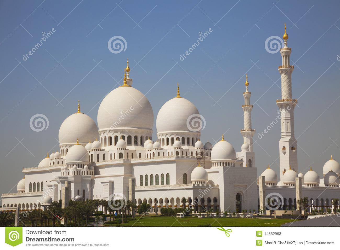 Sheikh Zayed Grand Mosque, Abu Dhabi, UAE Stock Photos.