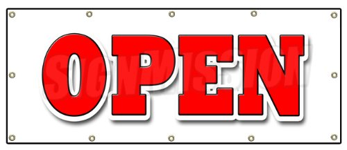 Open Banner Sign Grand Opening New Store for Business Shop Sale Retail  Welcome.