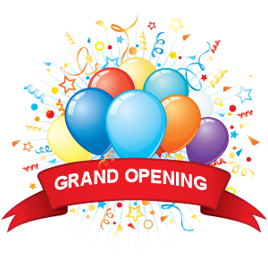 Modern Grand Opening Clipart.