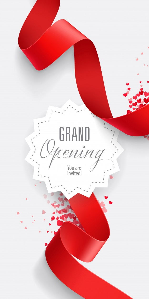 Free Grand opening You are invited lettering SVG DXF EPS PNG.