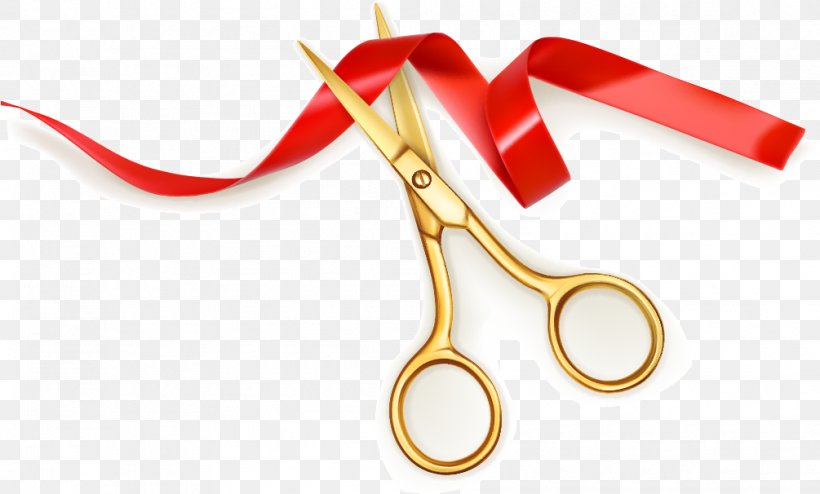 Scissors Ribbon Opening Ceremony Cutting, PNG, 1005x606px.