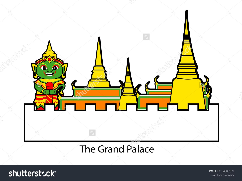 Grand Palace Stock Vector 154988189.