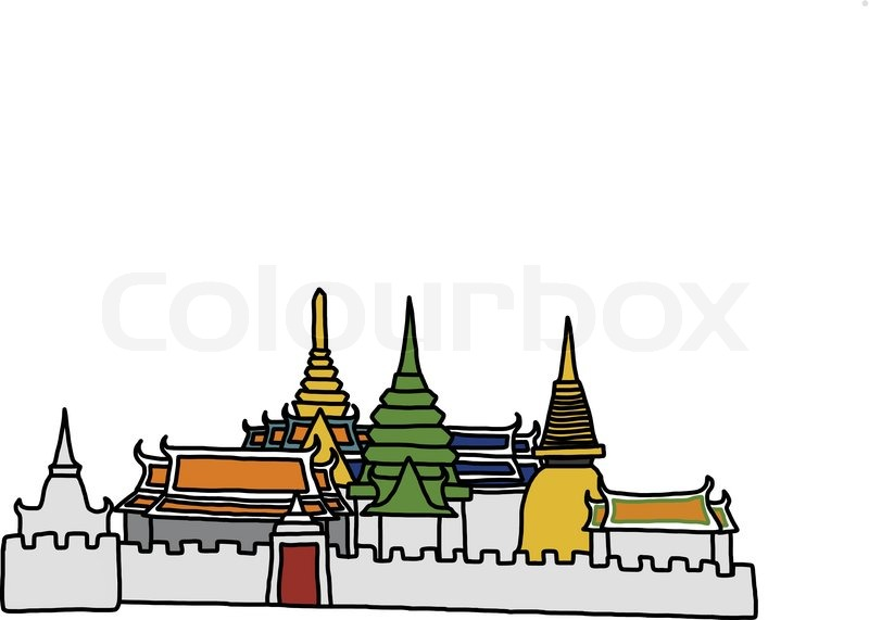Vector World famous landmark collection : Grand Palace.