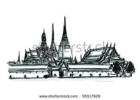 Bangkok Grand Palace Stock Vectors, Images & Vector Art.