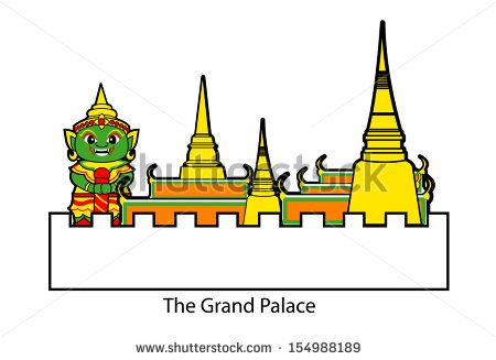 Grand Palace Stock Vector 154988189.