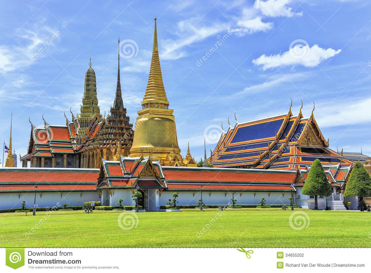 Wat Phra Kaew Grand Palace Bangkok Stock Photography.