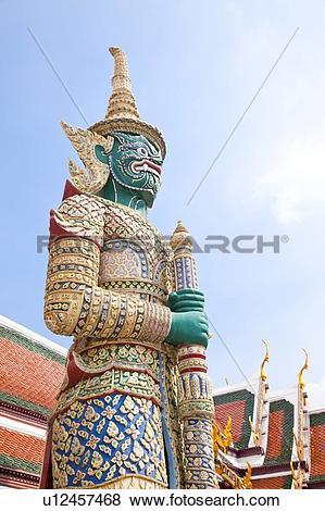 Pictures of Thailand, Bangkok, Grand Palais, Wat Phra Kaeo, Door.
