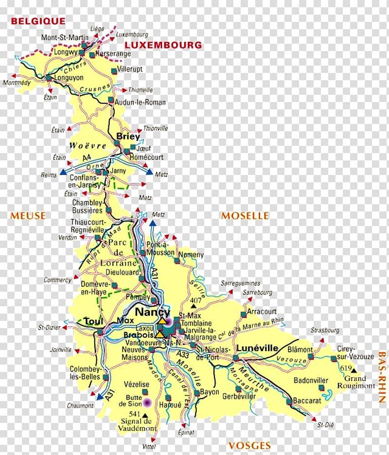 Nancy Meurthe Moselle Map La Licorne, map transparent.