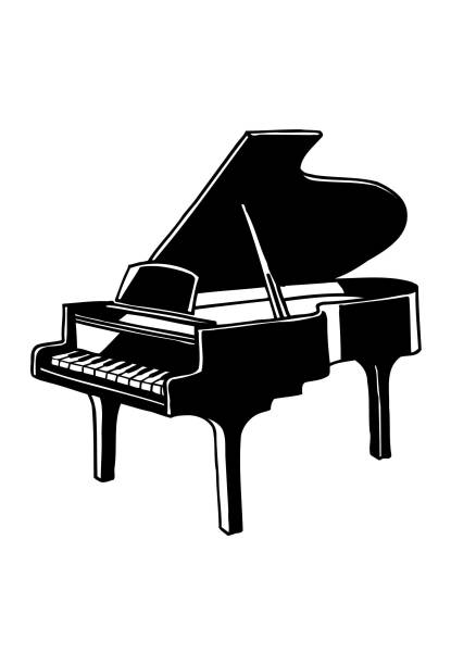 Best Grand Piano Illustrations, Royalty.