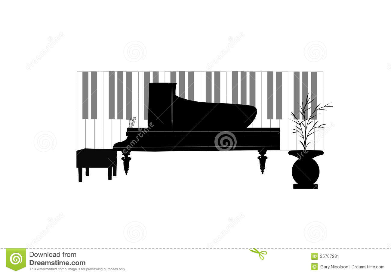Baby Grand Piano Stock Image.
