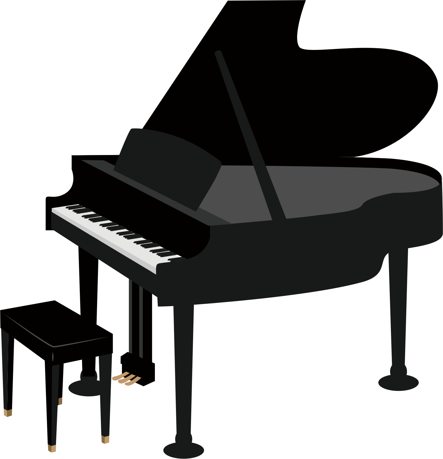Grand piano Drawing Clip art.
