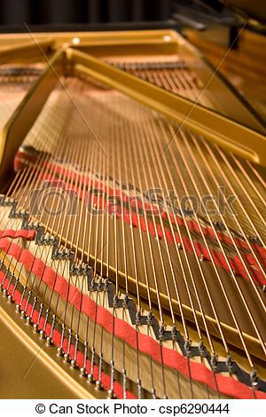 Stock Photo of Grand Piano Strings.