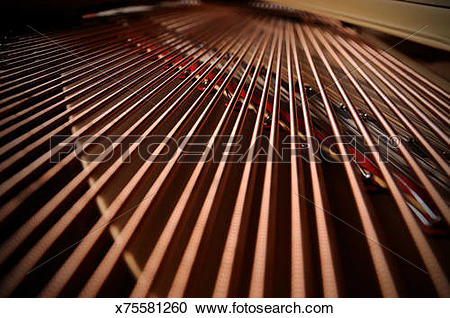 Stock Photography of Strings Inside of the grand piano. x75581260.