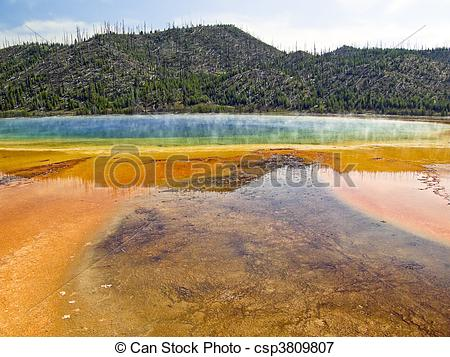 Picture of Grand Prismatic Spring, Yellowstone.