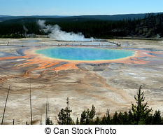 Picture of Grand Prismatic Spring Panoramic.