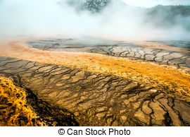 Stock Photographs of Grand Prismatic Spring.