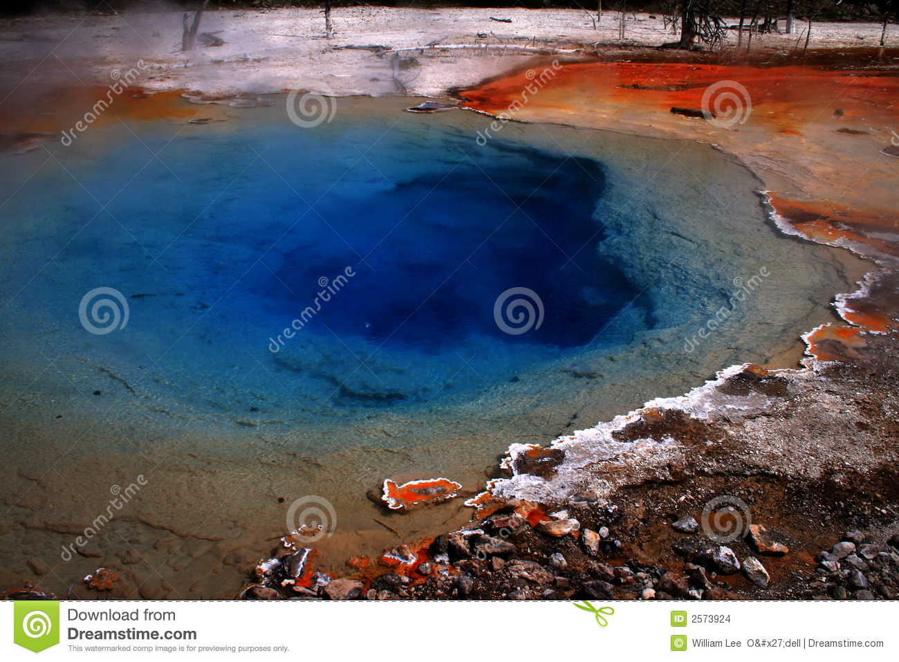Grand Prismatic Spring Stock Images.