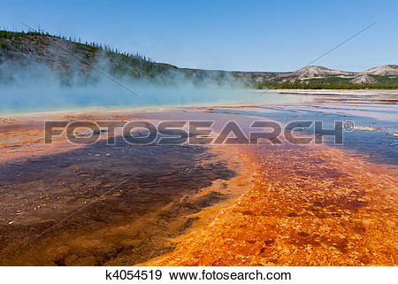 Stock Photograph of Grand Prismatic Spring k4054519.