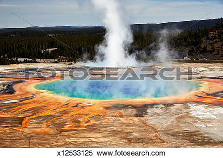 Stock Image of Grand Prismatic Spring, Yellowstone Park x12533125.