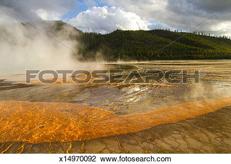 Stock Photo of Grand Prismatic Spring.