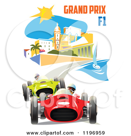 Clipart of a Grand Prix F1 Poster.