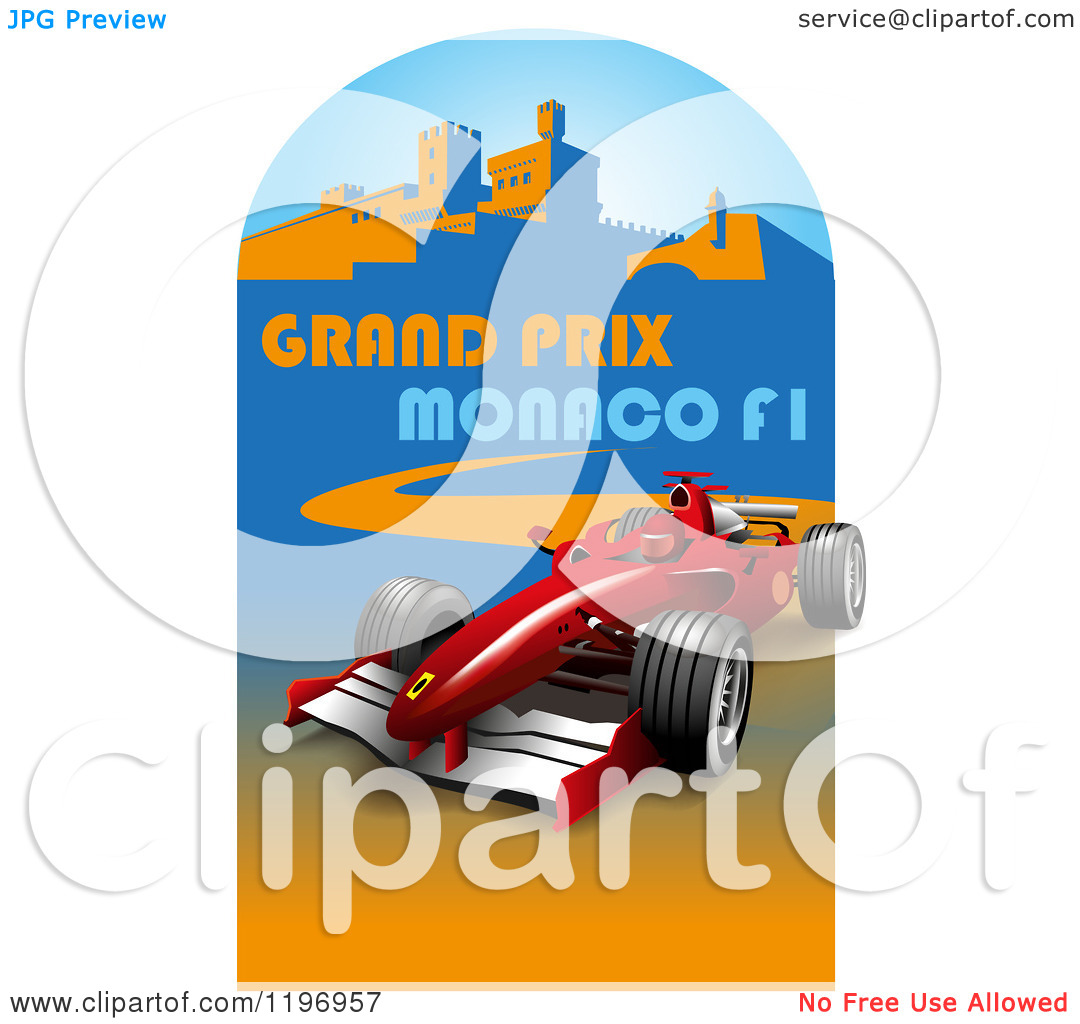 Clipart of a Grand Prix Monaco F1 Poster.