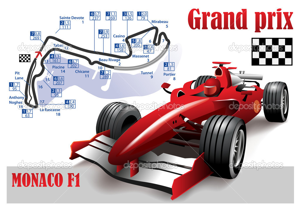GRAND PRIX MONACO F1 POSTER — Stock Vector © upstudio #46384997.