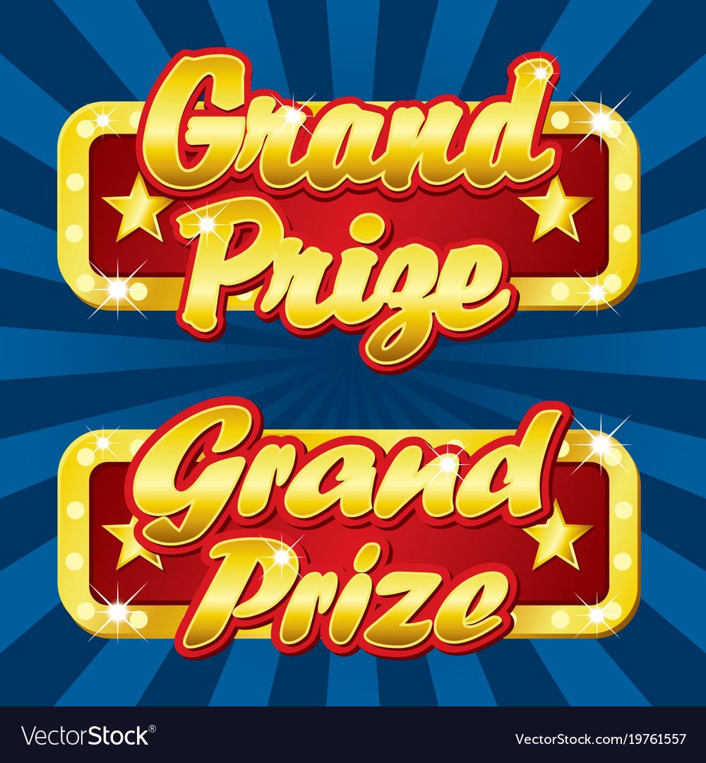 Grand prize logo.